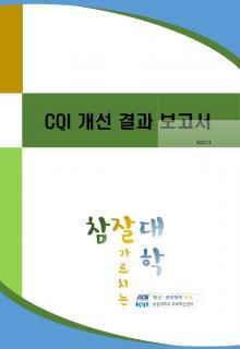 CQI 개선 보고서
